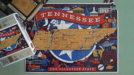 True South Puzzles, wholesale, jigsaw puzzle, national parks, state puzzles, Patrick and Co