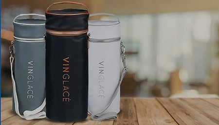 Vin Glace, insulated wine bottle holders, tumblers, wholesale at Patrick and Company